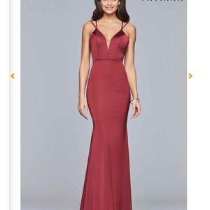 Wine Faviana prom dress